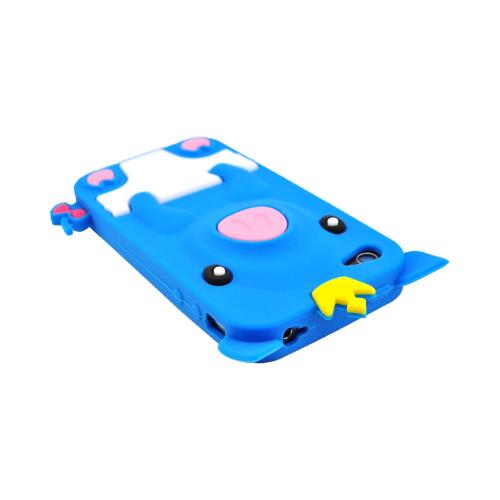 Apple iPhone 4/4S Silicone Case - Blue Royal Piglet