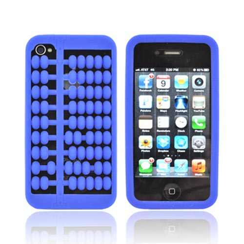 AT&T/ Verizon Apple iPhone 4, iPhone 4S Silicone Case - Blue Abacus