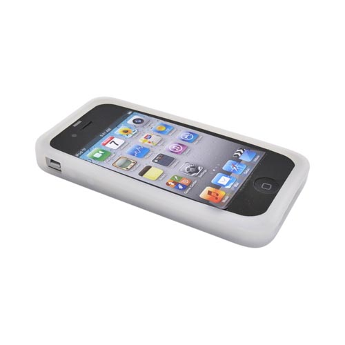 Apple iPhone 4 Silicone Case - Frost White Bee Hive