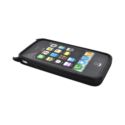 Apple Verizon/ AT&T iPhone 4, iPhone 4S Silicone Case - Black Lil Monster w/ Horns