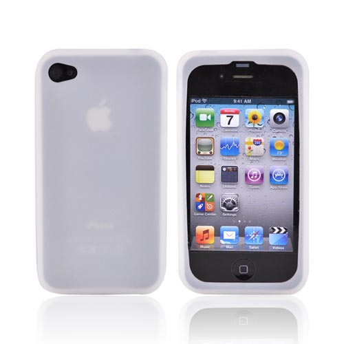 AT&T Apple iPhone 4 Silicone Case - Frost White