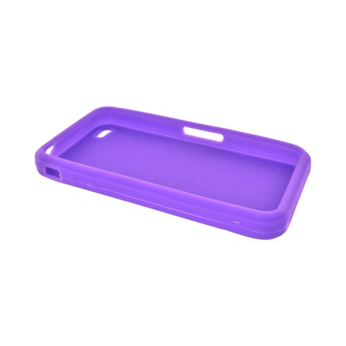 Apple iPhone 4 Silicone Case, Rubber Skin - Purple