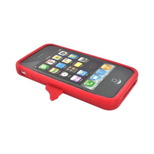 Apple Verizon/ AT&T iPhone 4, iPhone 4S Silicone Case - Red Angel w/ Wings