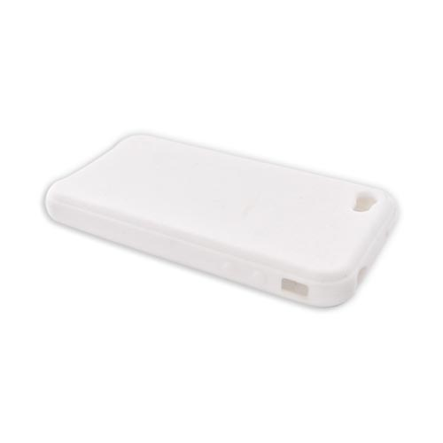 Apple iPhone 4 Silicone Case, Rubber Skin - Solid White