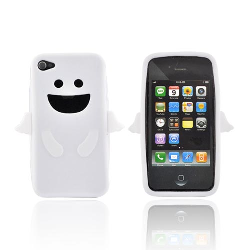 Apple iPhone 4 Silicone Case - White Angel w/ Wings