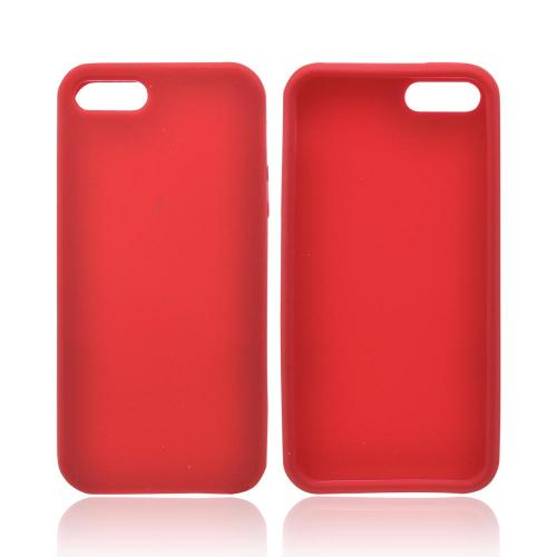 Apple iPhone 5/5S Silicone Case - Red