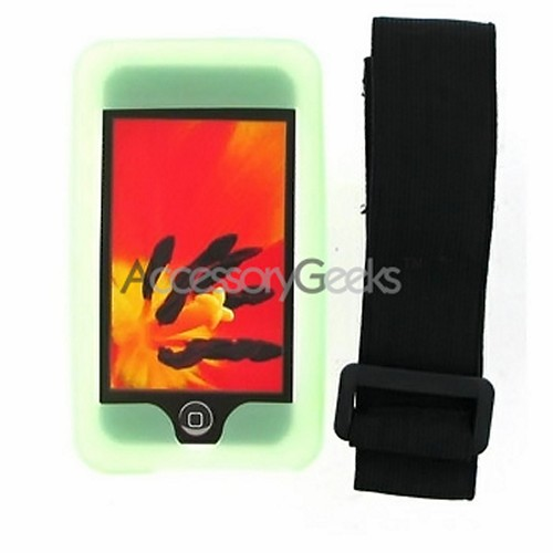 Apple iPod Touch 1st GenSilicone Case, Rubber Skin - Green