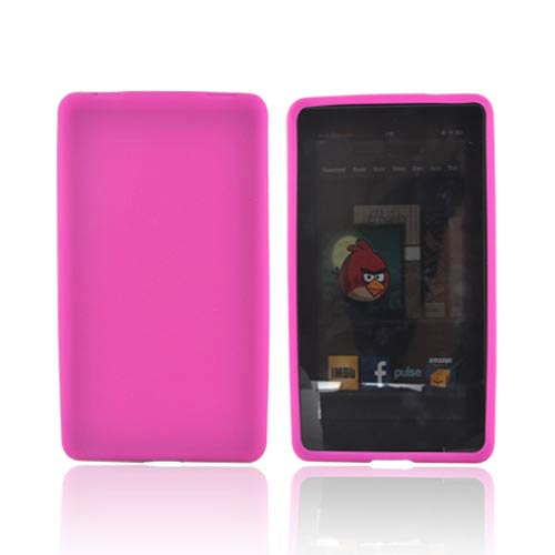 Amazon Kindle Fire Silicone Case - Hot Pink