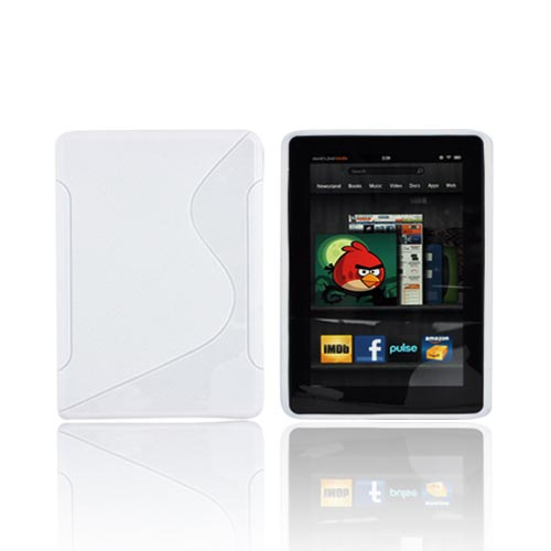 Amazon Kindle Fire Crystal Silicone Case - White S
