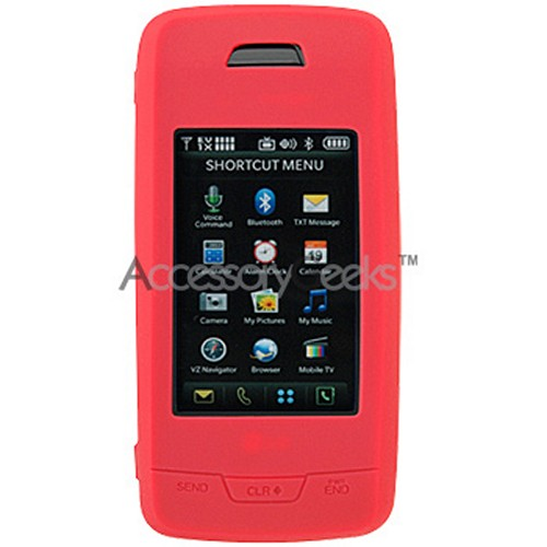 LG Voyager silicone case, rubber skin - Red