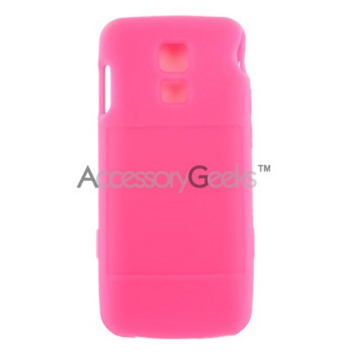 LG Glance VX7100 Silicone Case, Rubber Skin - Hot Pink