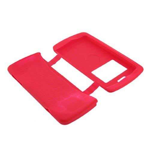 LG EnV3 VX9200 Silicone Case, Rubber Skin - Red