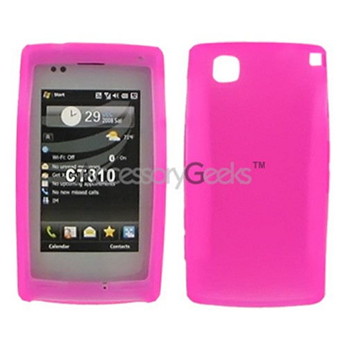 LG Incite Silicone Case, Rubber Skin - Hot Pink