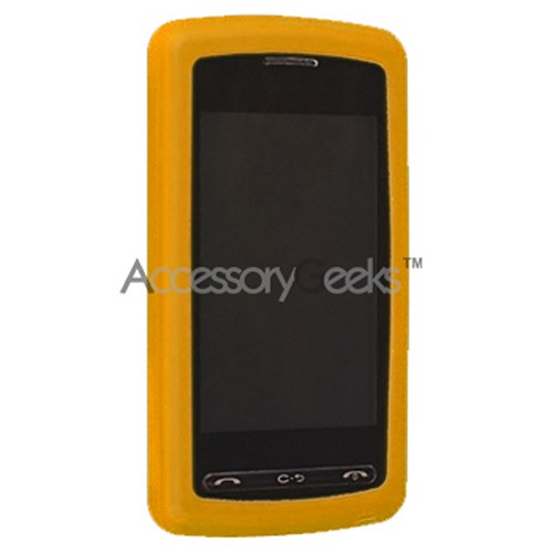 LG Vu Rubber silicone case, rubber skin - Orange