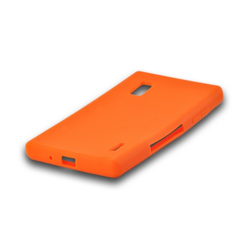 Orange Silicone Case for LG Optimus G (AT&T)
