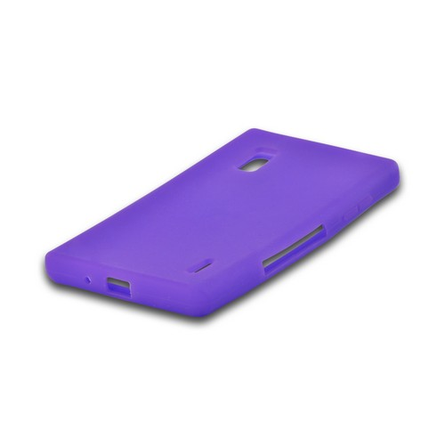 Purple Silicone Case for LG Optimus G (AT&T)