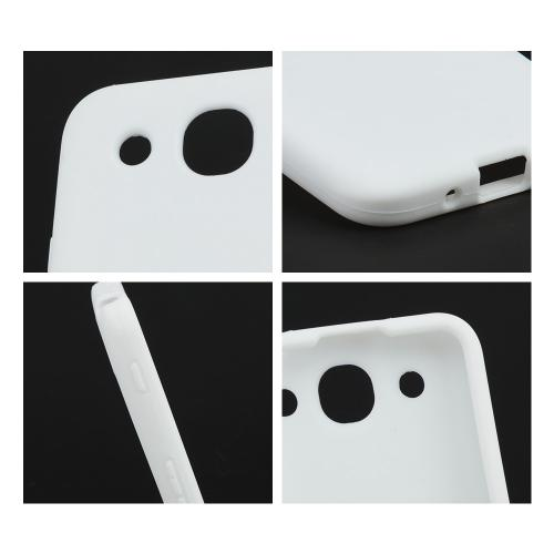 White Silicone Case for LG Optimus G Pro