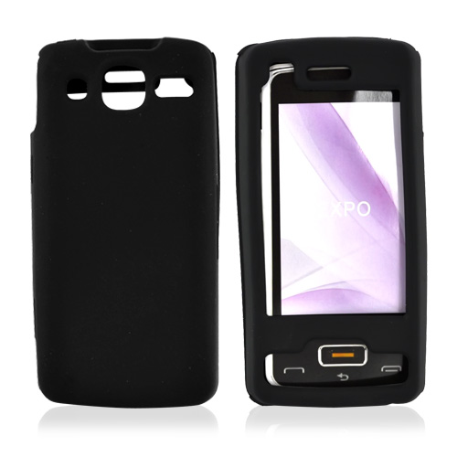 LG Expo GW820 Silicone Case, Rubber Skin - Black