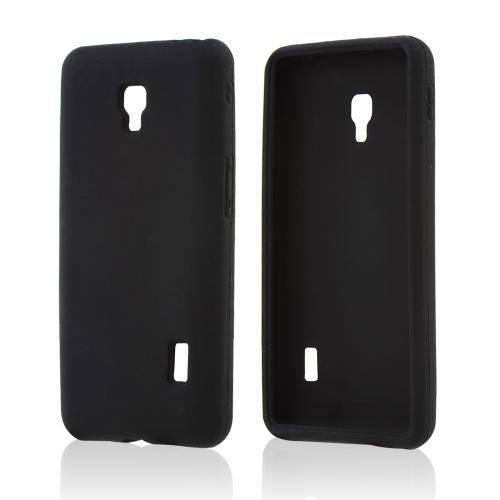 Black Silicone Skin Case for LG Optimus F6