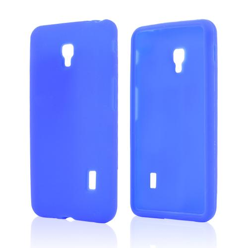 Blue Silicone Skin Case for LG Optimus F6