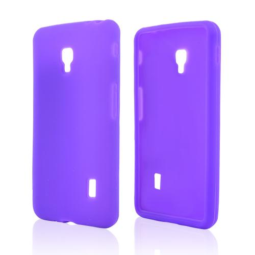 Purple Silicone Skin Case for LG Optimus F6
