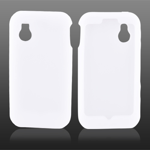 LG Arena GT950 Silicone Case, Rubber Skin - Frost White