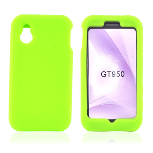 LG Arena GT950 Silicone Case, Rubber Skin - Neon Green