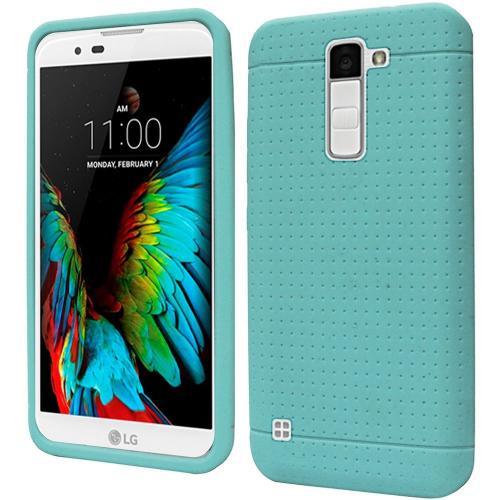 LG K10 Case, Soft & Flexible Reinforced Silicone Skin Case Cover [Mint]