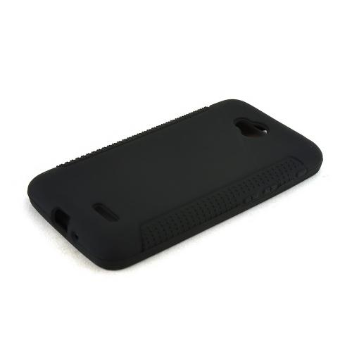 Black LG Optimus Exceed 2/ LG L70 Silicone Skin Case Cover, Great Simple Protection!