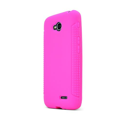 Hot Pink LG Optimus Exceed 2/ LG L70 Silicone Skin Case Cover, Great Simple Protection!