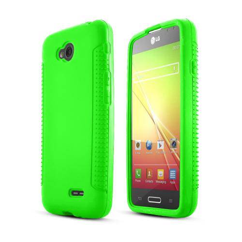 Neon Green LG Optimus Exceed 2/ LG L70 Silicone Skin Case Cover, Great Simple Protection!