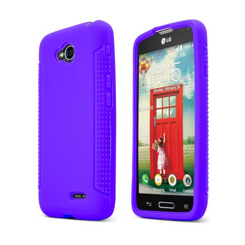 Purple LG Optimus Exceed 2/ LG L70 Silicone Skin Case Cover, Great Simple Protection!