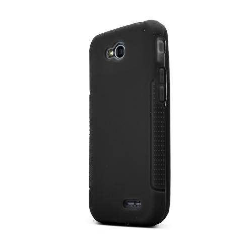Black LG L90 Silicone Case Cover; Soft Flexible Silicon Material; [Anti Slip] Best Design with High Quality; Coolest Soft Silicone Rubber Case Cover