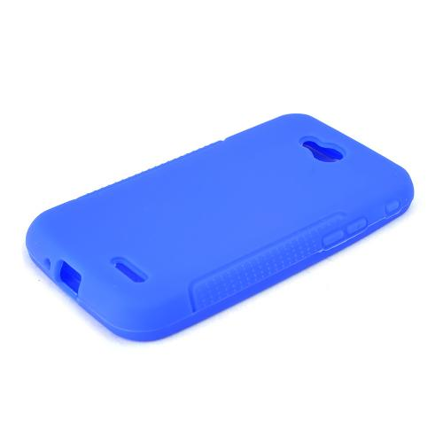 Blue LG L90 Silicone Case Cover; Soft Flexible Silicon Material; [Anti Slip] Best Design with High Quality; Coolest Soft Silicone Rubber Case Cover