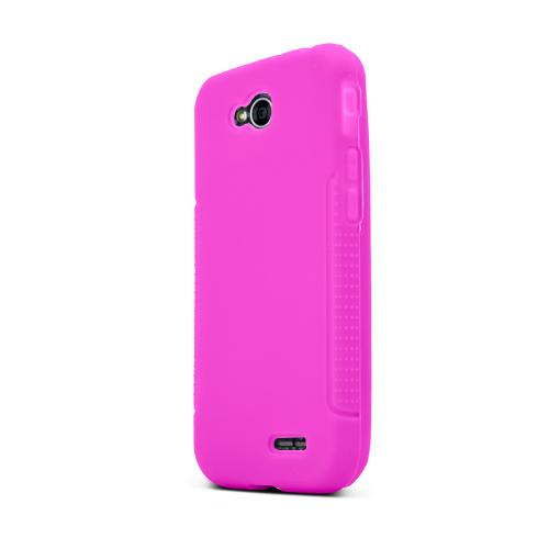 Hot Pink LG L90 Silicone Case Cover; Soft Flexible Silicon Material; [Anti Slip] Best Design with High Quality; Coolest Soft Silicone Rubber Case Cover