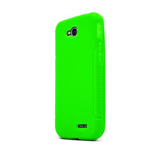 Neon Green LG L90 Silicone Case Cover; Soft Flexible Silicon Material; [Anti Slip] Best Design with High Quality; Coolest Soft Silicone Rubber Case Cover