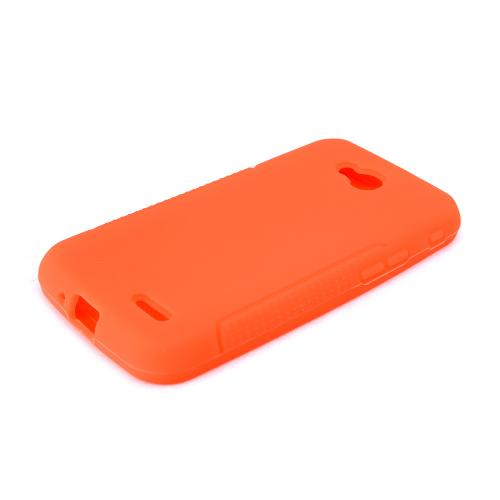 Orange LG L90 Silicone Case Cover; Soft Flexible Silicon Material; [Anti Slip] Best Design with High Quality; Coolest Soft Silicone Rubber Case Cover
