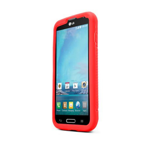 Red LG L90 Silicone Case Cover; Soft Flexible Silicon Material; [Anti Slip] Best Design with High Quality; Coolest Soft Silicone Rubber Case Cover