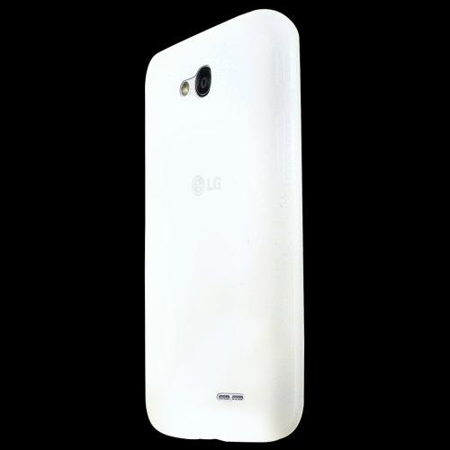 Frost White LG L90 Silicone Case Cover; Soft Flexible Silicon Material; [Anti Slip] Best Design with High Quality; Coolest Soft Silicone Rubber Case Cover