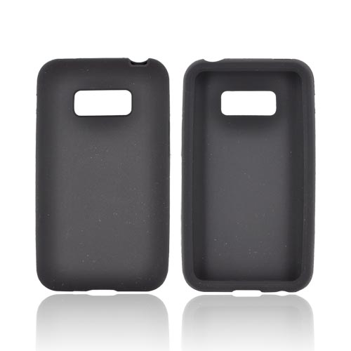 LG Optimus Elite Silicone Case - Black