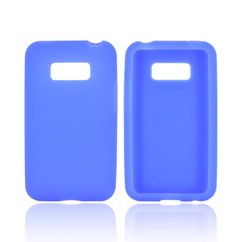 LG Optimus Elite Silicone Case - Blue