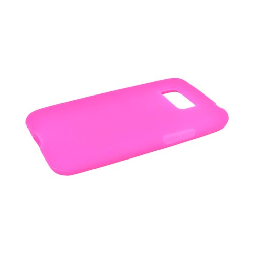 LG Optimus Elite Silicone Case - Hot Pink