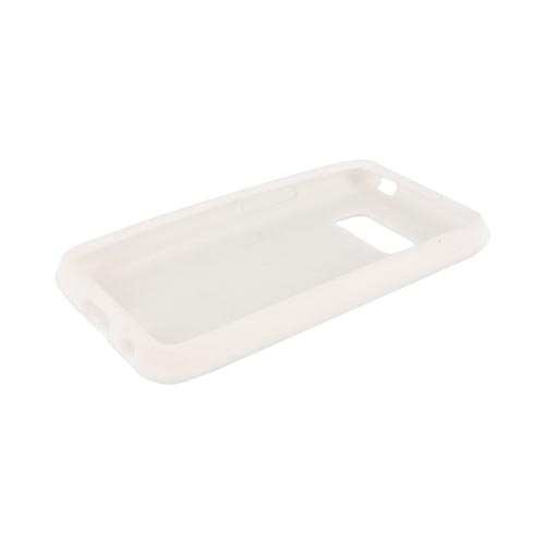 LG Optimus Elite Silicone Case - White