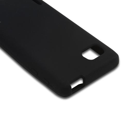 Black Silicone Case for LG Optimus F3