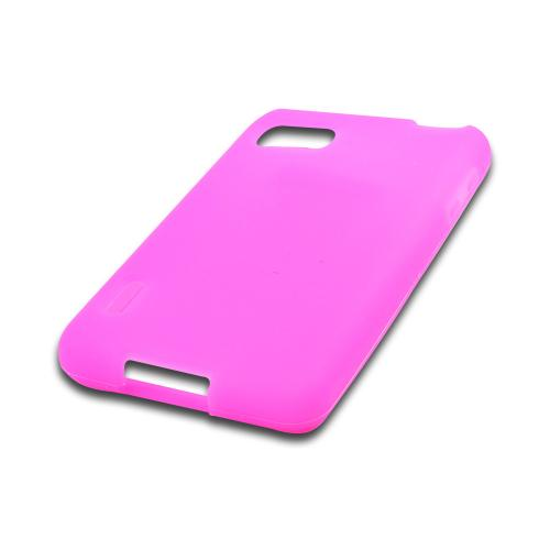 Hot Pink Silicone Case for LG Optimus F3