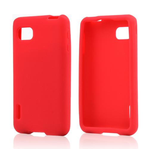 Red Silicone Case for LG Optimus F3