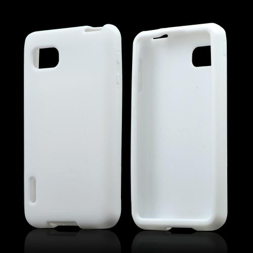 White Silicone Case for LG Optimus F3
