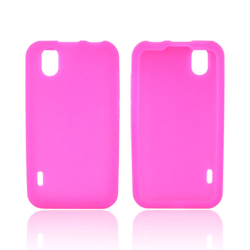 LG Marquee LS855 Silicone Case - Hot Pink