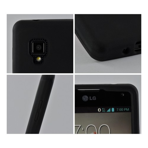 Black Silicone Case for LG Optimus G (Sprint)
