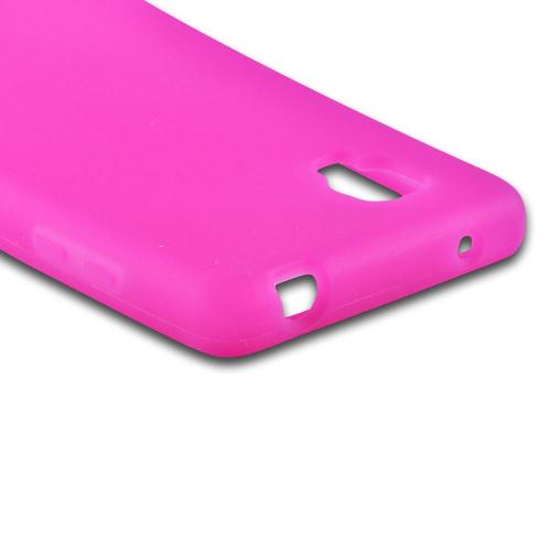Silicone Case Pink for LG Optimus G Sprint